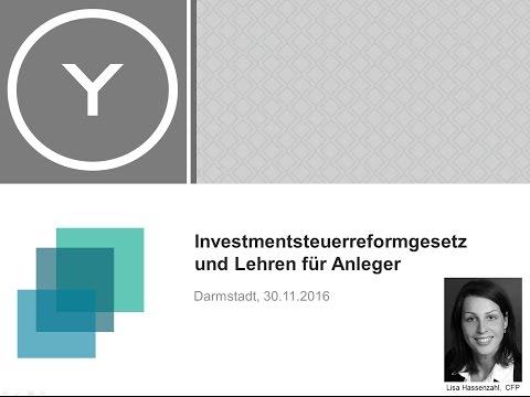 Investmentsteuerreform und Lehren für Anleger