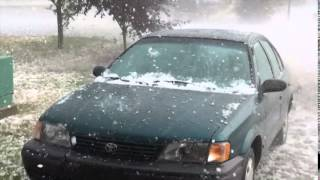 Airdrie, AB Hail Storm Aug 7, 2014