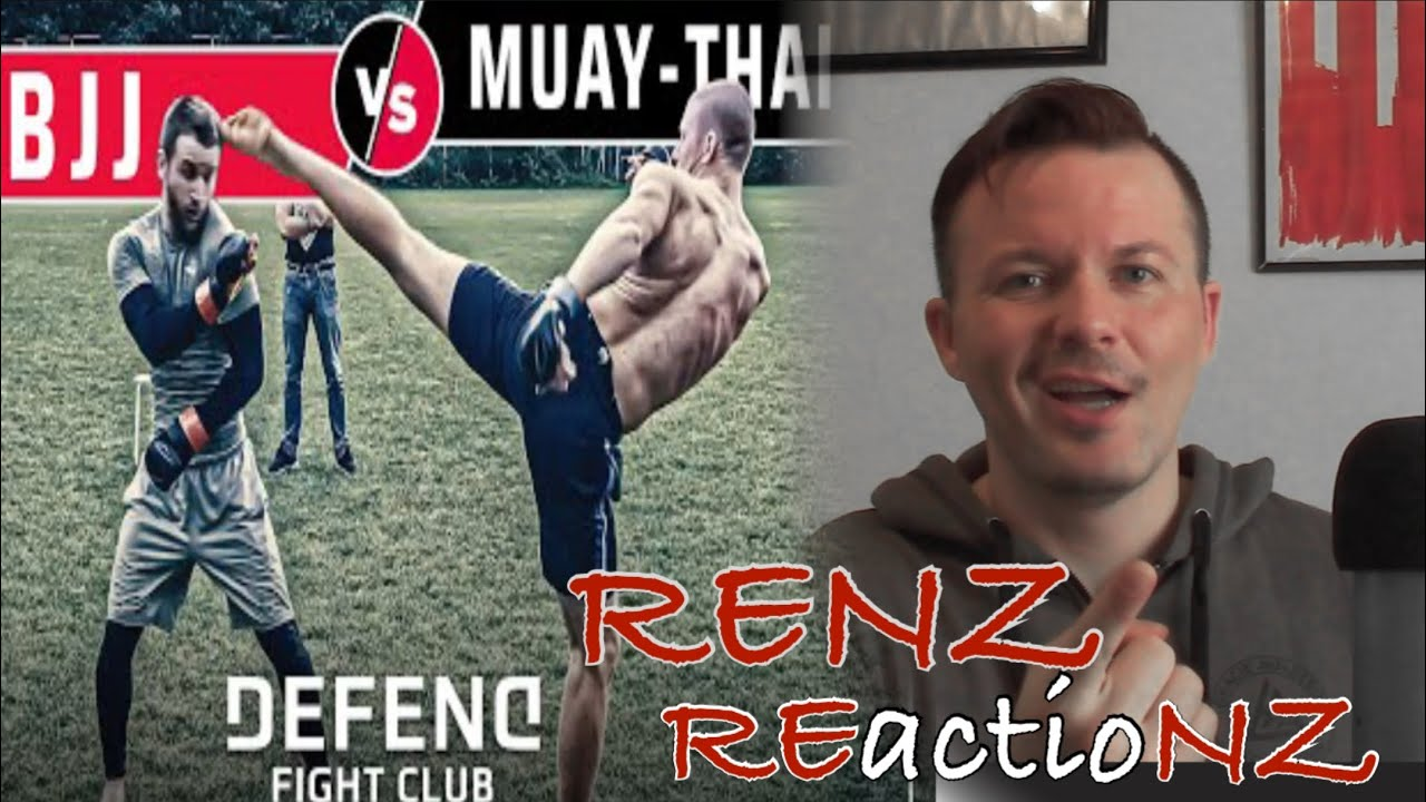 RENZ REactioNZ Muay Thai vs Brazilian Jiu Jitsu (DEFEND Fight Club) #renzcast #bjj #muaythai