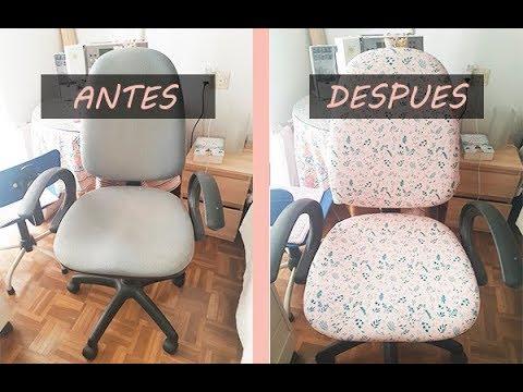 Cómo tapizar una silla de oficina rapido y fácil con tela - YouTube