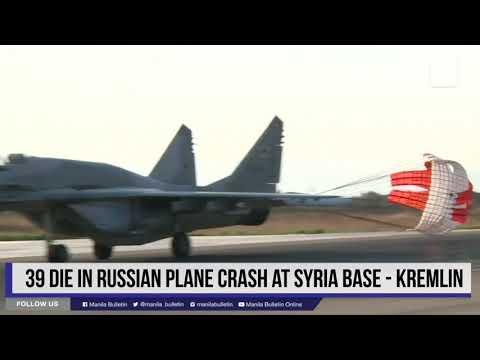 39 die in Russian plane crash at Syria base - Kremlin