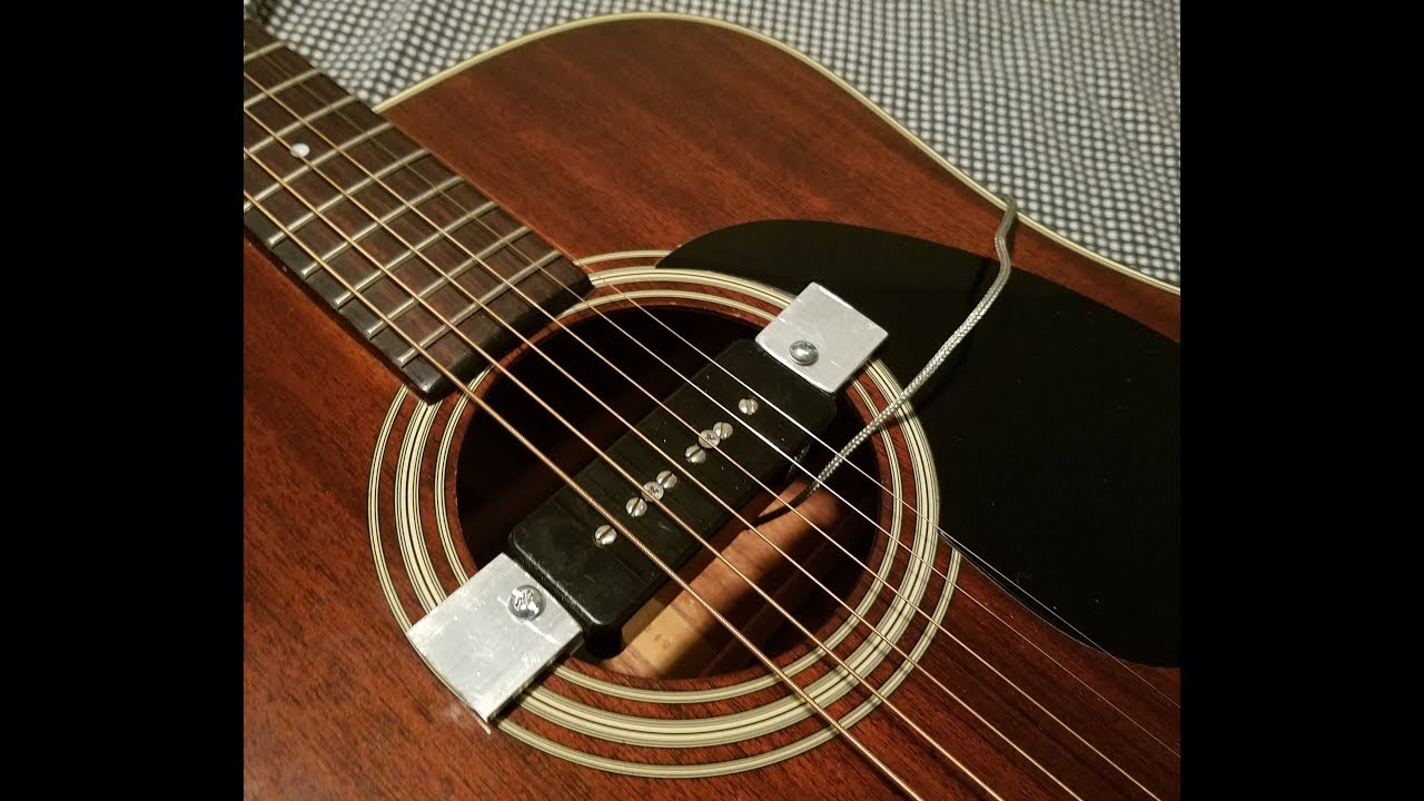 Homemade Universal Acoustic Pickup Mount P90 Youtube