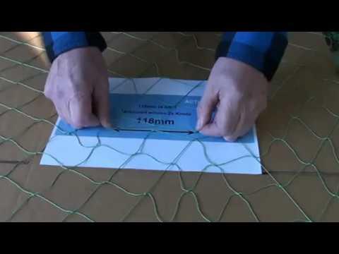 Measuring Fish Net Mesh