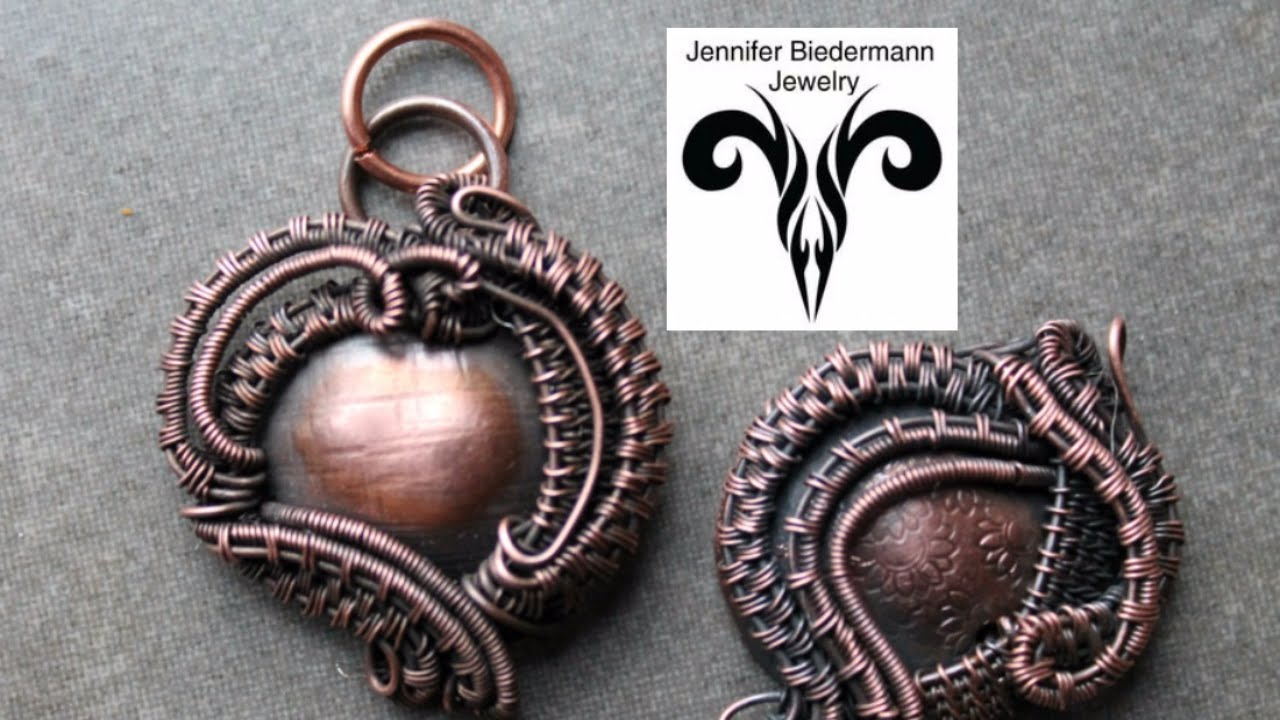 Wire weave charm pendant tutorial - YouTube