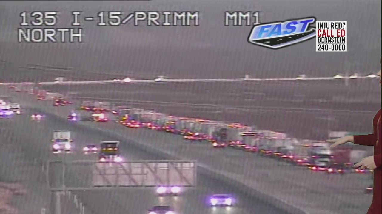 3 injured in crash on Interstate 15 past Primm