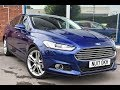 Used Ford Mondeo 2.0 TDCi Titanium 5dr Powershift Deep Impact Blue 2017