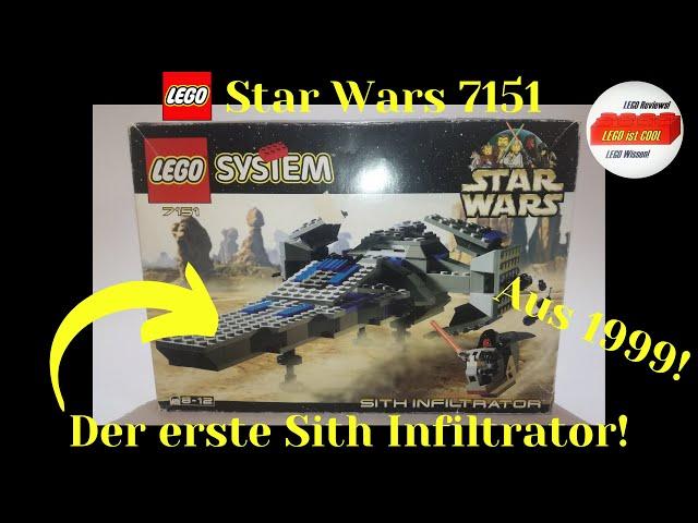 Mein erstes LEGO Star Wars Set aus 1999!😱LEGO Star Wars 7151 Sith Infiltrator 1999!/Review deutsch
