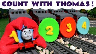 Counting with Thomas and Friends Toy Trains - Play Doh toys numbers for kids and children TT4U