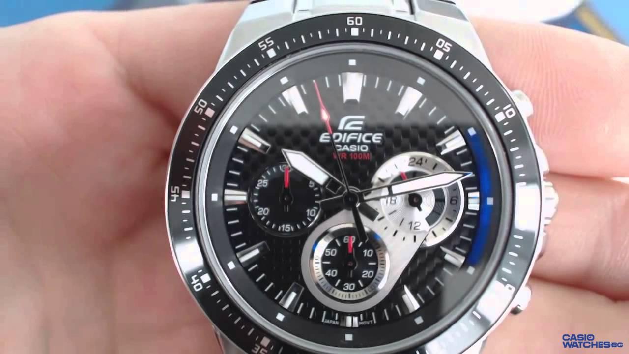eb073649a58d Мъжки часовник Casio Edifice Chronograph EF-552D-1AV - YouTube