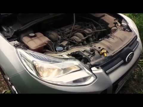 Как поменять лампу ближнего света на Ford Focus 3.