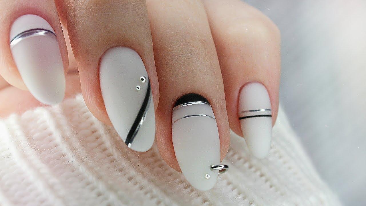 ????  Пирсинг ногтей / маникюр из instagram / гибкие ленты /дизайн ногтей геометрия / трендовый мани