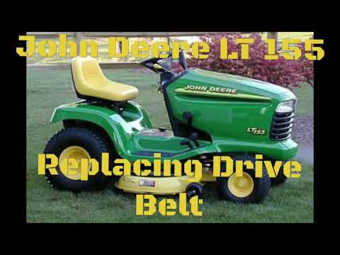 John Deere LT 155 Riding Lawn Mower REPLACING THE DRIVE