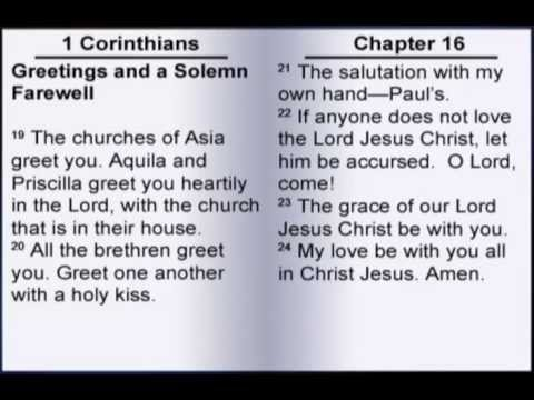 paul and the letter to the corinthians First epistle of saint paul to the corinthians next previous : chapter 15 next.