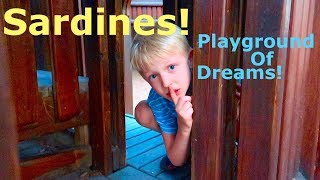 Playing SARDINES At The Playground Of DREAMS! Mr. E Part 5!