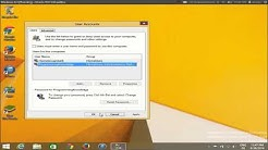 How to remove login password at startup on Windows 8 /Windows 8.1