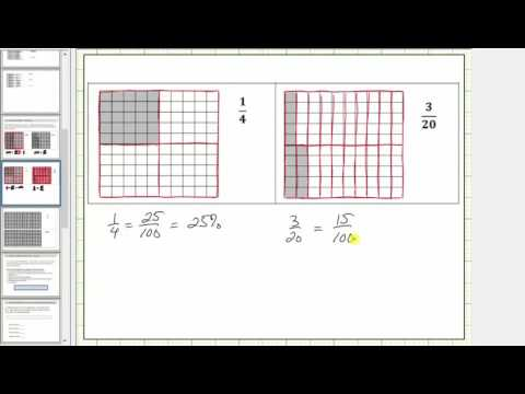 Represent a Percent or Decimal Using 10 by 10 Grids