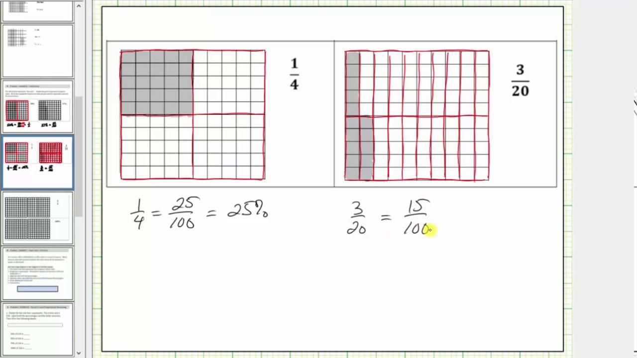 photograph relating to Hundredths Grid Printable identified as Depict a % or Decimal Applying 10 through 10 Grids