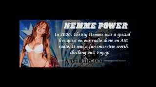 Christy Hemme Shoot Interview from 2006 - Interactive Wrestling Radio Shoots with the TNA Knockout