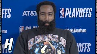 James Harden Postgame Interview - Game 4 | Rockets vs Thunder | August 24, 2020 NBA Playoffs
