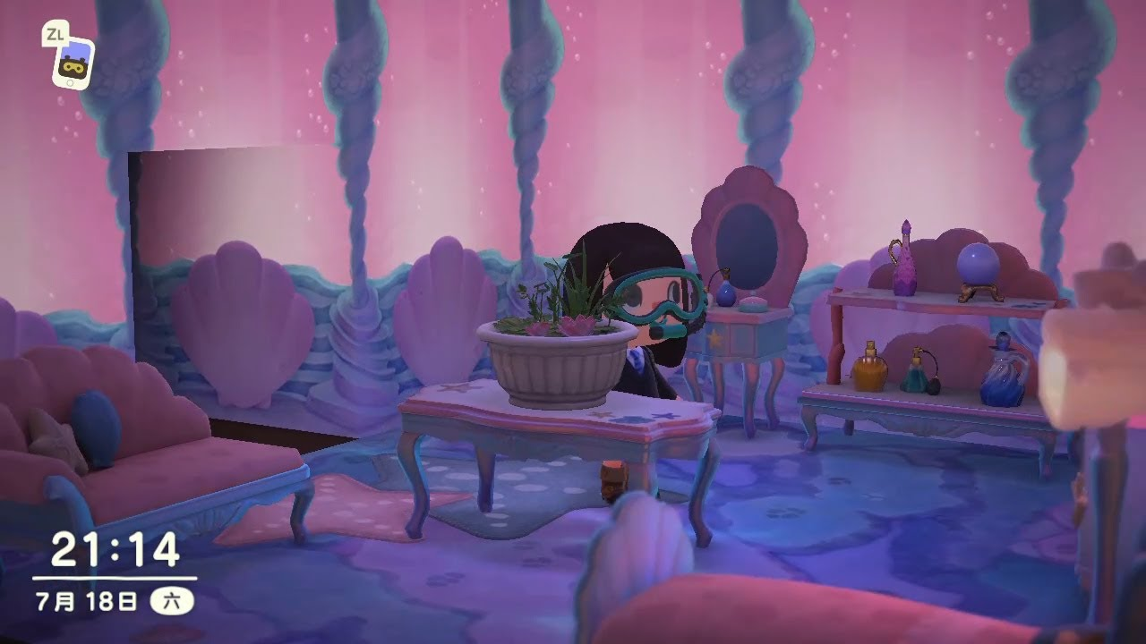 Acnh Bedroom Themed Design Making A Better House With Mermaid Set Furniture Akrpg Youtube