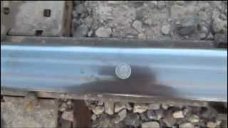 Penny and Quarter Run Over By Train