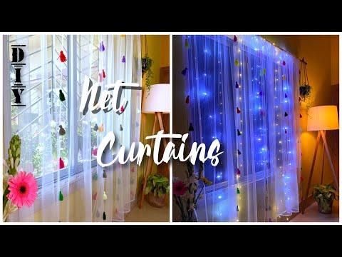 DIY Net Curtain   How to make Curtains at Home   Modern Curtain Design