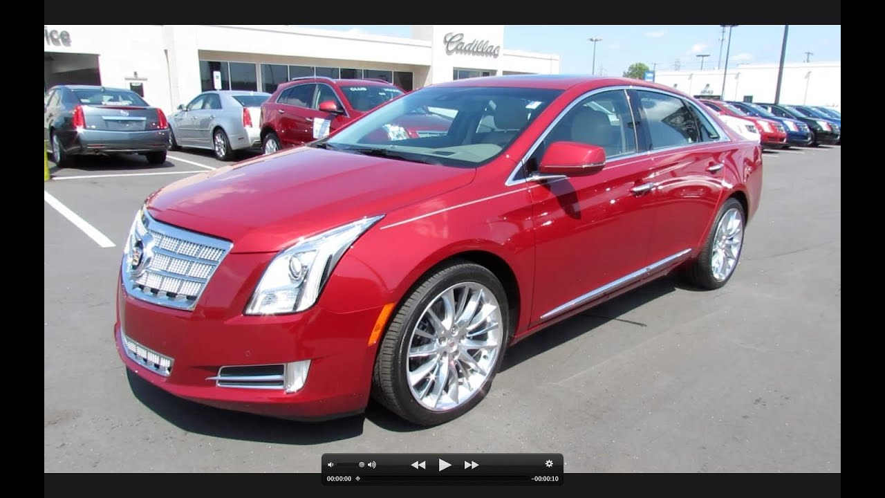 2013 cadillac xts platinum collection awd start up exhaust and in