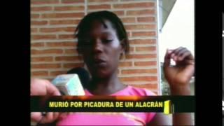 Menor murió en vereda La Brea por picadura de un alacrán
