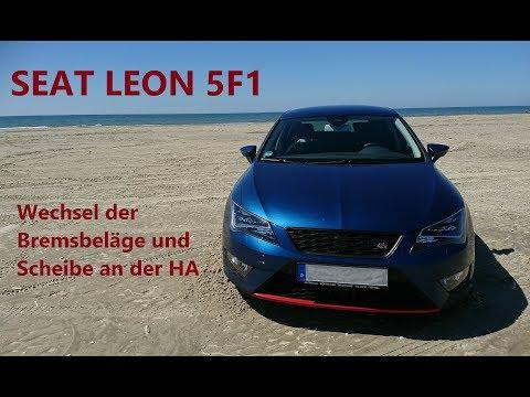Seat Leon 2.0 TDI Bremsbeläge Bremsklötze hinten Hinterachse