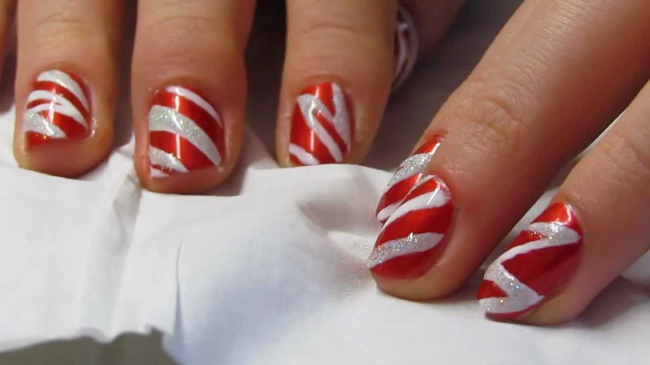 Nageldesign - Weihnachten - YouTube