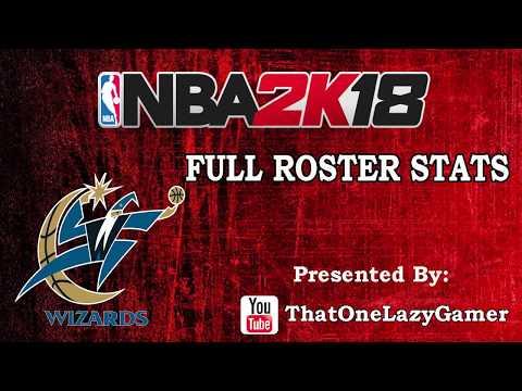 "NBA 2K18 ""Washington Wizards"" Full Roster stats"