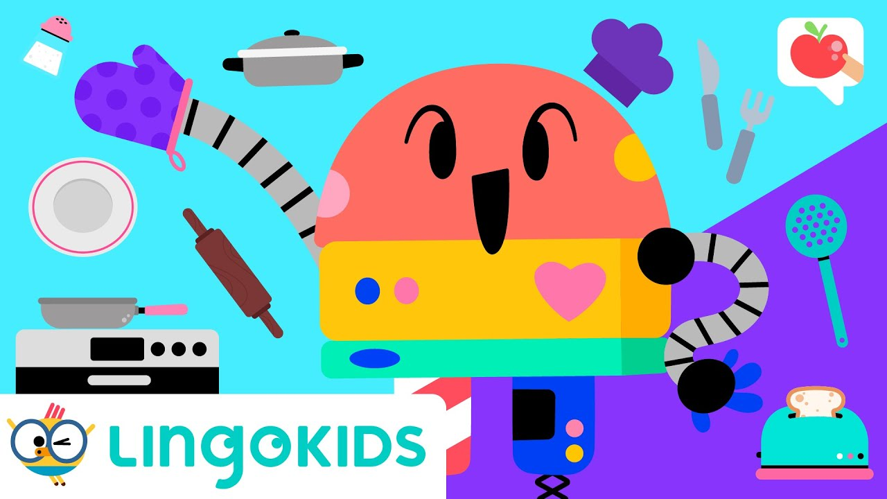 KITCHEN for KIDS 👩🍳🍳 VOCABULARY, SONGS and GAMES | Lingokids