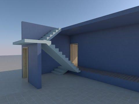 تصميم السلم/الدرج