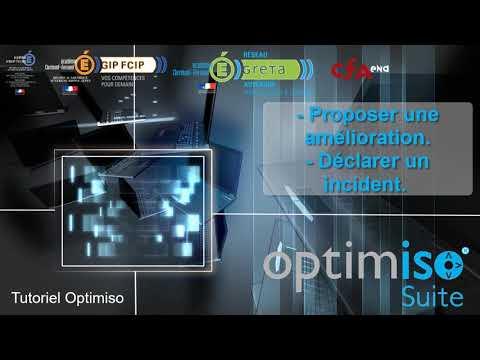 Tuto Optimiso Suite - Proposer une amélioration / Déclarer un incident