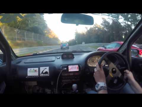 Subaru Impreza Turbo vs Honda Integra Type R DC2 Nurburgring Nordschleife Battle