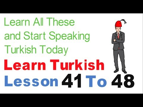 Learn Turkish & Speak From Today - Day 5 (Lesson 41 To 48)