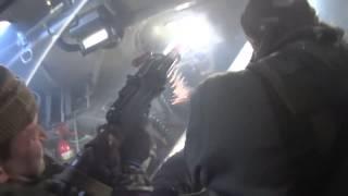Ополчение ДНР на бтр в бою Съёмка из бтр во время боя. Ополченцы, Новороссия.