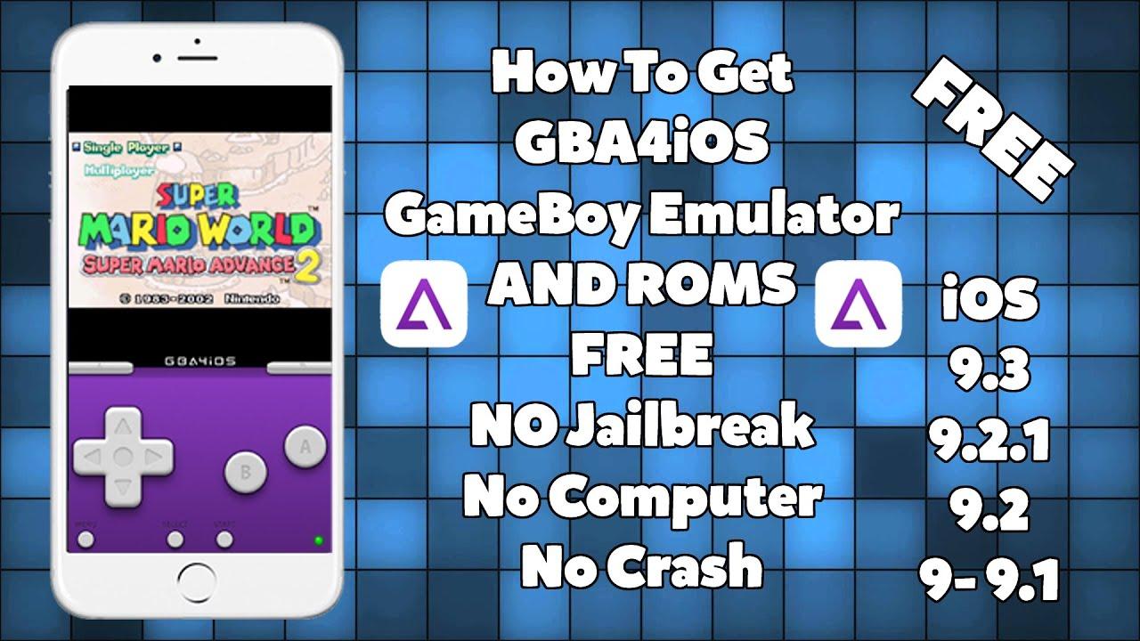 How To Install GBA4iOS Emulator & GAMES FREE iOS 9 - 9 1 - 9 2 1 / 9 3 No  Jailbreak iPhone iPad iPod