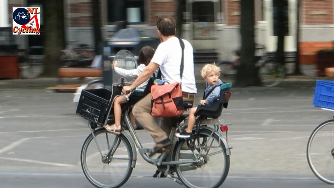 299125ffb Cycling with babies and toddlers in The Netherlands - YouTube