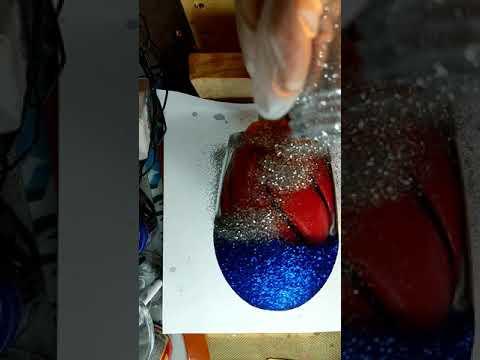 Wine Glass PVC .. Glitter Tumbler.. Epox Method :glitter Tumbler How to apply the epoxy glitter coat
