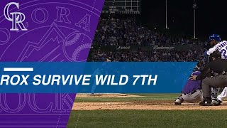 Rockies survive a wild 7th inning en route to Wild Card win