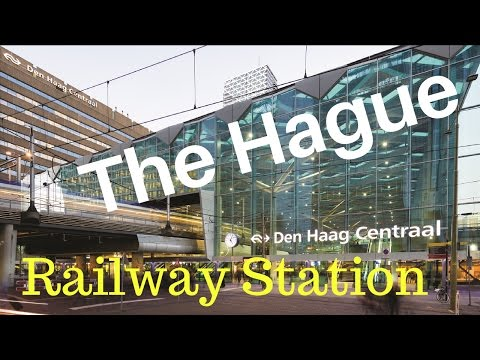 Central Railway Station.. The Hague (Den Haag), The Netherlands (Part14/14) City Center Tour..