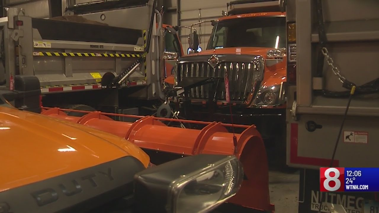 Crews in North Haven ready for winter weather on Tuesday