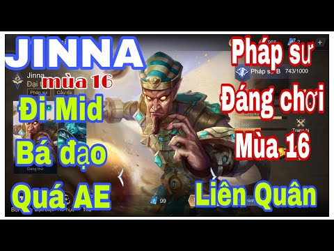 Jinna mùa 16 | Lên đồ và bảng Ngọc , phù hiệu cho Jinna đi Mid | Jinna Liên Quân Mùa 16