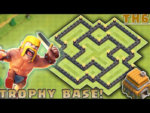 Clash of Clans - BEST Townhall 6 (TH6) Hybrid Base Layout!