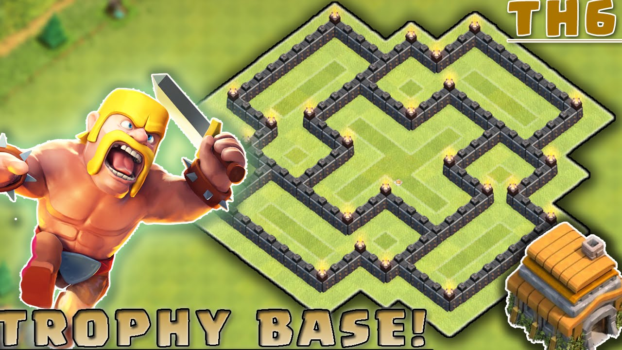 Clash Of Clans Best Townhall  Th Hybrid Base Layout Most Effective Youtube