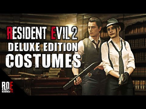 RESIDENT EVIL 2: REMAKE     DELUXE EDITION - COSTUMES REVEALED!