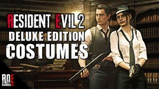 RESIDENT EVIL 2: REMAKE ||  DELUXE EDITION - COSTUMES REVEALED!