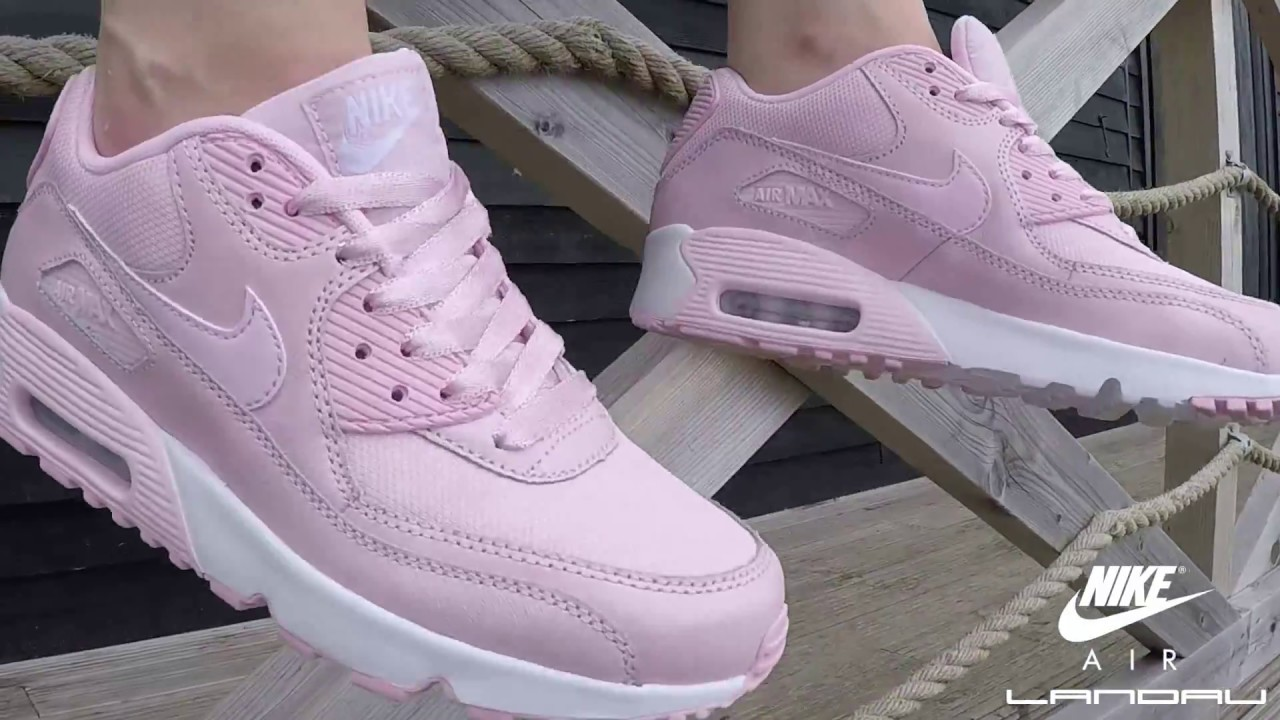 c326990ff9a3 NIKE SHOES JUNIOR AIR MAX 90 SE PRISM PINK - YouTube