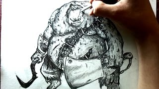 Speed Drawing: Pudge (Dota) | Selbor